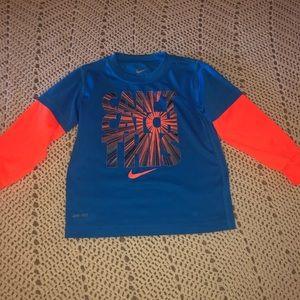 Boys Nike Dry Fit long sleeve shirt